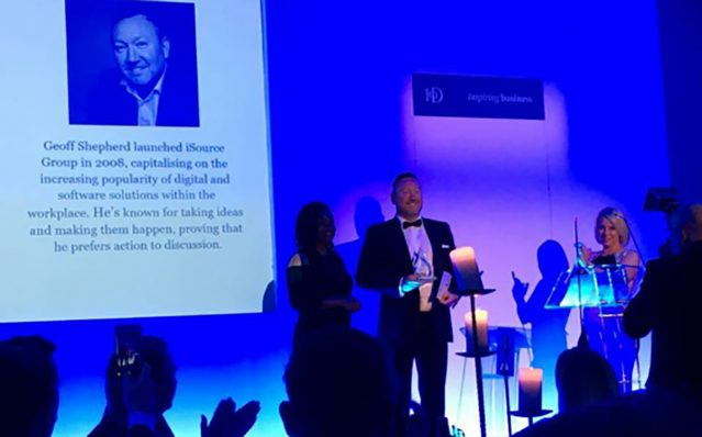 Geoff at the IOD Awards